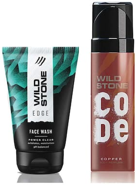 Wild Stone Code Copper Body Perfume (120 ml) and Edge Face Wash (100 ml) For Men, Pack of 2