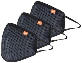 WILDCRAFT Black Small 3 Pcs Fashion Masks For Unisex