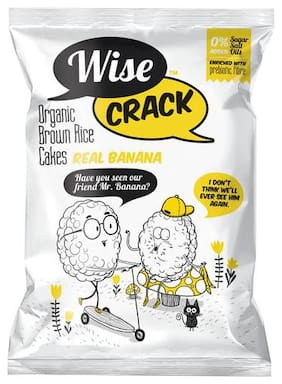 Wise Crack Organic Rice Cake - Banana 15 gm