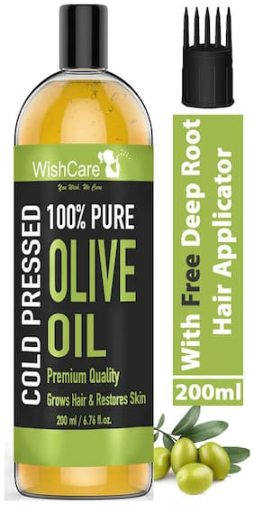 WishCare Premium Cold Pressed Olive Carrier Oil 200 ml Pack of 1