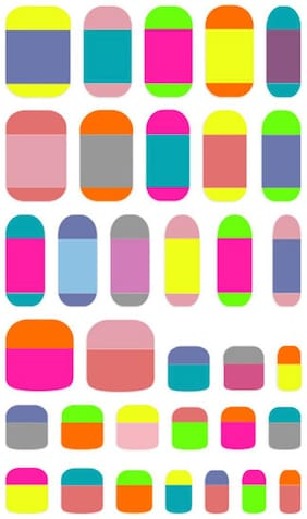 Withshyan Self-Adhesive Trendy Nail Art Stickers;Candy Rainbow