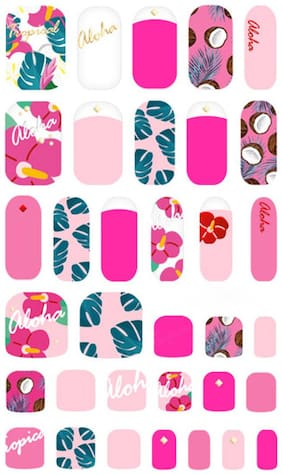 WithShyan Self-Adhesive Trendy Nail Art Stickers;Hawaii Aloha