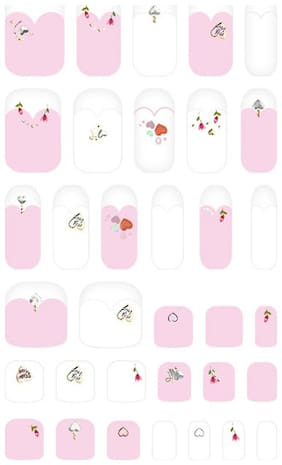 Withshyan Self-Adhesive Trendy Nail Art Stickers;Naked Pink