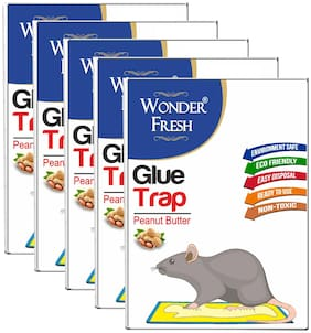 Wonder Fresh Jumbo Size Glue Trap for Rat and Other Insect (Size 21cm X 30cm) Pack of 5