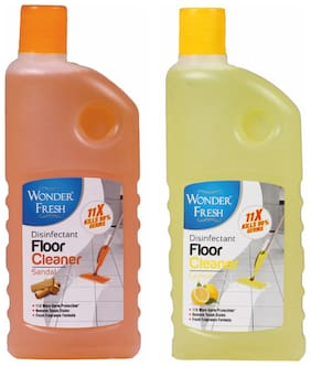 Wonder Fresh Floor Cleaner Sandal 500 ml and Lemon 500 ml ( Pack of 2)