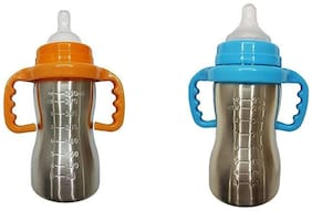 Wonder Star Present High Quality Thermal Insulation Stainless Steel Newborn Baby Feeding Bottle (290 ml each) (2 pcs Combo)
