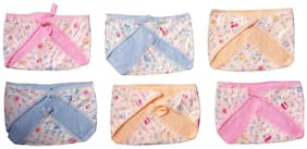 Wonder Star Presents Premium Quality Multicolor Dippers pants/New born baby nappies. Plastic Waterproof Diaper/Langot for 0-6 Months babies Pack Of 6Multicolor. (Assorted Mix color & Design)