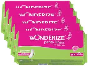 Wonderize Panty Liners 24n  Combo of 5