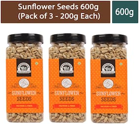 Wonderland Sunflower Seeds 600g (Pack of 3 - 200g Each)