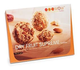 WOW Laddus Dry Fruit Supreme Laddus - 220 grams - 6 pieces - Indian Dessert Sweet Mithai