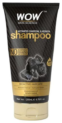 Wow Skin Science Activated Charcoal & Keratin Shampoo 200 ml