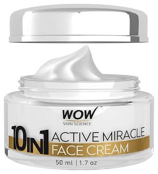 Wow Skin Science 10-In-1 Active Miracle Face Cream - SPF 15 PA++ 50 ml