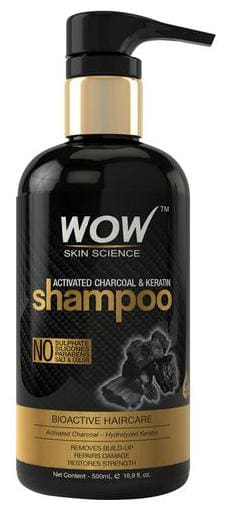 Wow Skin Science Activated Charcoal & Keratin Shampoo 500 ml