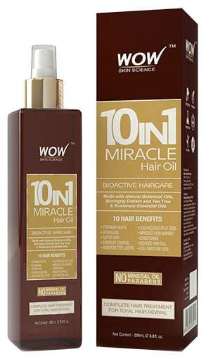 Wow Skin Science 10-In-1 Miracle Hair Oil 200 ml