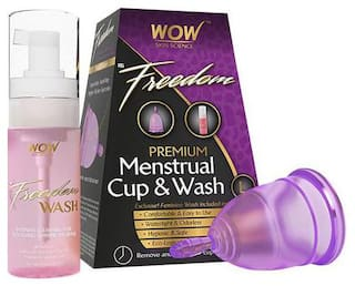 Wow Skin Science F&G Freedom Reusable Menstrual Cup & Wash - Large  Post Childbirth 1 pc