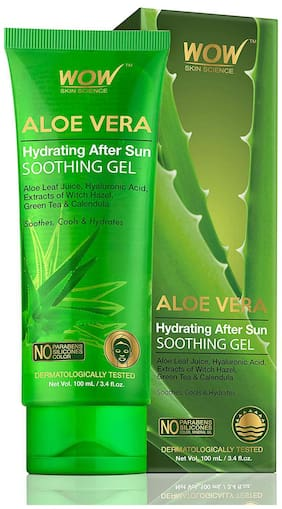 Wow Skin Science Aloe Vera Hydrating After Sun Soothing Gel  100 ml  Tube