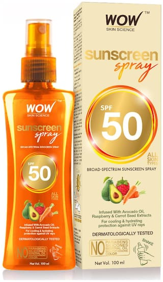 WOW Skin Science UV Water Transparent Sunscreen Spray SPF 50 -100ml (Pack of 1)