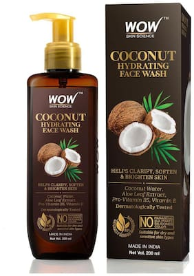 WOW Skin Science Coconut Hydrating Face Wash 200ml (Pack of 1)