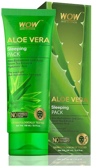 Wow Skin Science Aloe Vera Sleeping Pack  100 ml  Tube