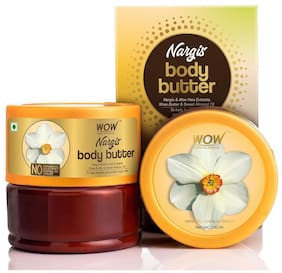 WOW Skin Science Nargis Body Butter for Hydrating & Softening Rough Skin - 200ml