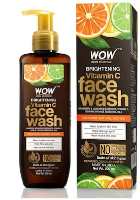 WOW Skin Science Brightening Vitamin C Face Wash 200ml (Pack of 1)