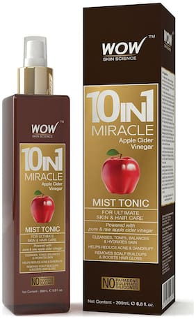 WOW Skin science 10 In 1 Miracle Apple Cider Vinegar Mist Tonic - No Parabens Sulphate & Silicones - 200 ml