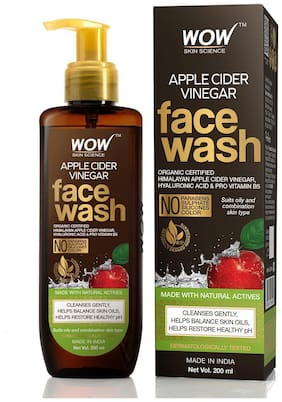 WOW Skin Science Apple Cider Vinegar Face Wash 200ml (Pack of 1)