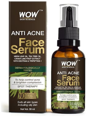 WOW Skin Science Anti Acne Face Serum 30ml (Pack of 1)