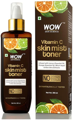 WOW Skin Science Vitamin C Skin Mist Toner with Lemon Essential Oil 200ml