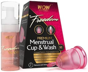 WOW Skin Science F&G Freedom Reusable Menstrual Cup & Wash - Medium (Pre Childbirth)