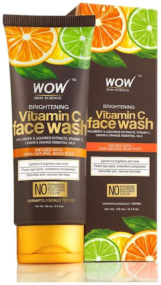 WOW Skin Science Vitamin C Face Wash 100ml Tube