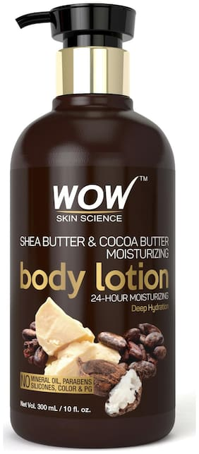 Wow Skin Science Shea & Cocoa Butter Moisturizing Body Lotion - Deep Hydration 300ml