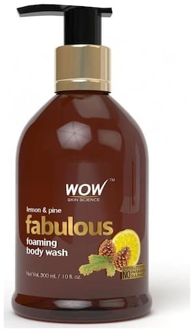 WOW Skin science Lemon & Pine Foaming Body Wash - 300 ml