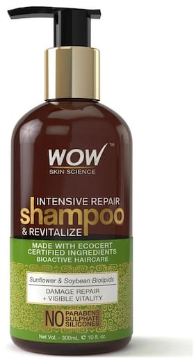 Wow Skin Science Intensive Repair Shampoo And Revitalize - No Parabens  Sulphates & Silicones - 300Ml