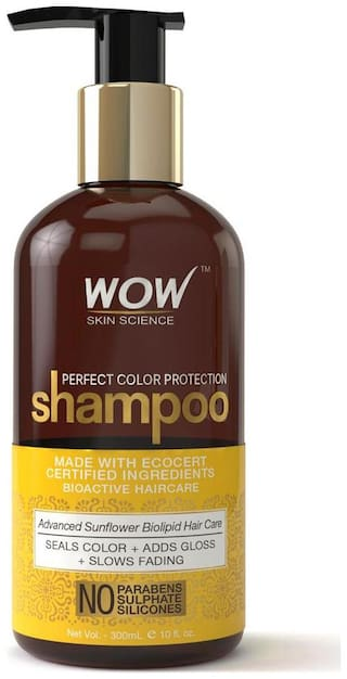 Wow Skin Science Perfect Color Protection Shampoo - No Parabens  Sulphates & Silicones - 300 Ml