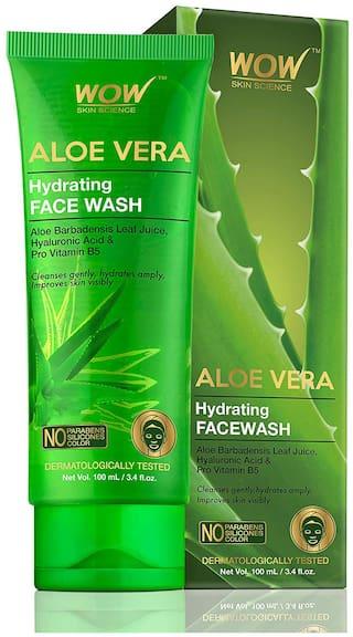 Wow Skin Science Aloe Vera Hydrating Face Wash 100ml Tube Face Wash