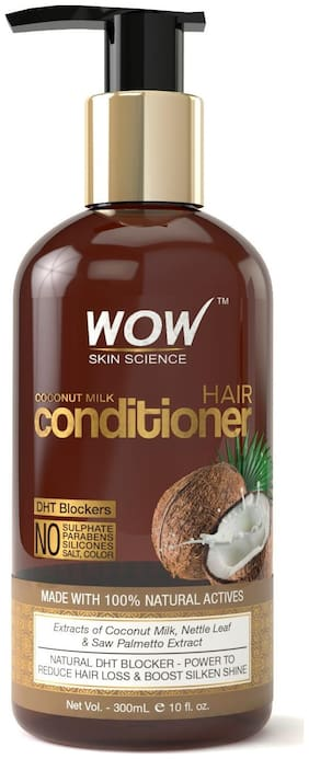 Wow Skin Science Coconut Milk Conditioner - No Parabens Minerals Silicones & Color -With Dht Blockers -300Ml