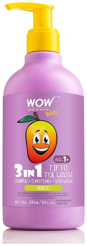 WOW Skin Science Kids Plush & Plump Body Lotion Mango SPF 15 300ml (Pack of 1)