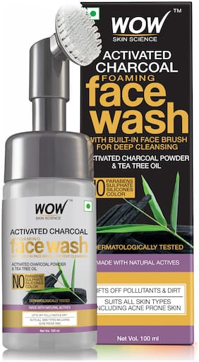 WOW Skin Science Charcoal Foaming Face Wash 100ml