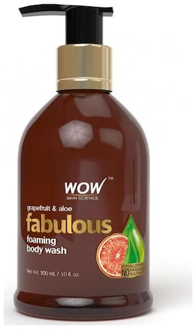 WOW Skin science Grapefruit & Aloe Foaming Body Wash - 300 ml