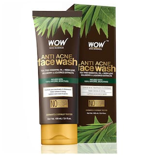 Wow Skin Science Anti Acne Neem & Tea Tree Face Wash Oil Free No Parabens, Sulphate, Silicones & Color 100ml