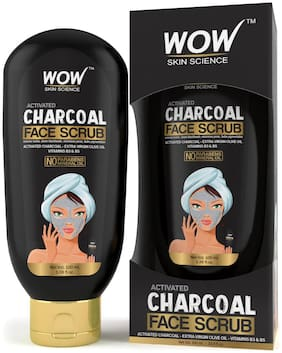 WOW Skin Science Activated Charcoal Face Scrub- No Parabens & Mineral Oil - 100mL