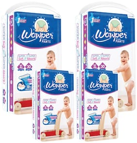 Wowper Fresh Pants Diapers Extra Large 30 pcs (Pack Of 4)
