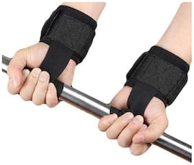 WRIST SUPPORT FOR WEIGHT LIFTING (PAIR) BLACK