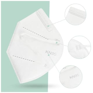 WSX KN95 Anti Pollution Activate Virus Protection Mask(Pack of 1) with Free Medimade 200 ml Sanitizer -70% Alcohol FDA Approved