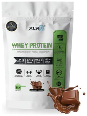 XLR8 Whey Protein Concentrate 80%/24 g Protein/5.4 g BCAA - 2 lbs / 908 g (Chocolate Flavour)