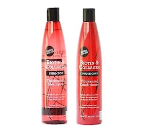 Xpel Marketing Biotin & Collagen Thickening Shampoo & Conditioner Combo For Strong Thick Hair, 400 ml-SLES Free