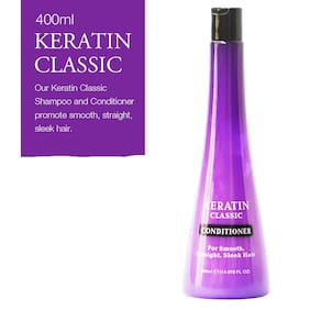 Xpel Marketing Keratin Classic Hair Conditioner For Dry & Frizzy Hair, for Smooth, Straight, Sleek Hair-400ml-SLES Free