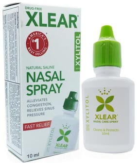 Xlear Inc Xylitol and Saline Nasal Spray-10 ml each (Pack of 5)