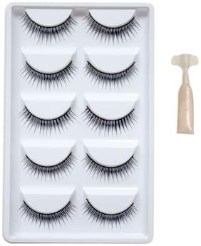 YEMIX Stylish Eyelashes Day & Night Pack (With Glue)